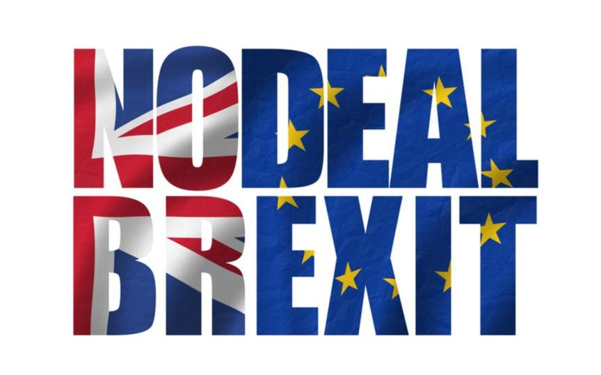 no deal Brexit flag image