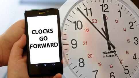 time change clocks go forward