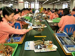 Chinese toy factory workers