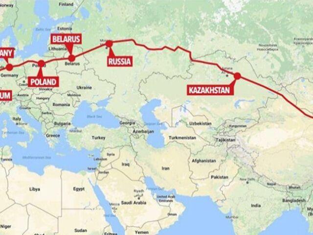 China-Europe-rail-freight-map
