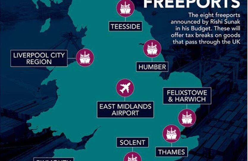 UK freeport locations