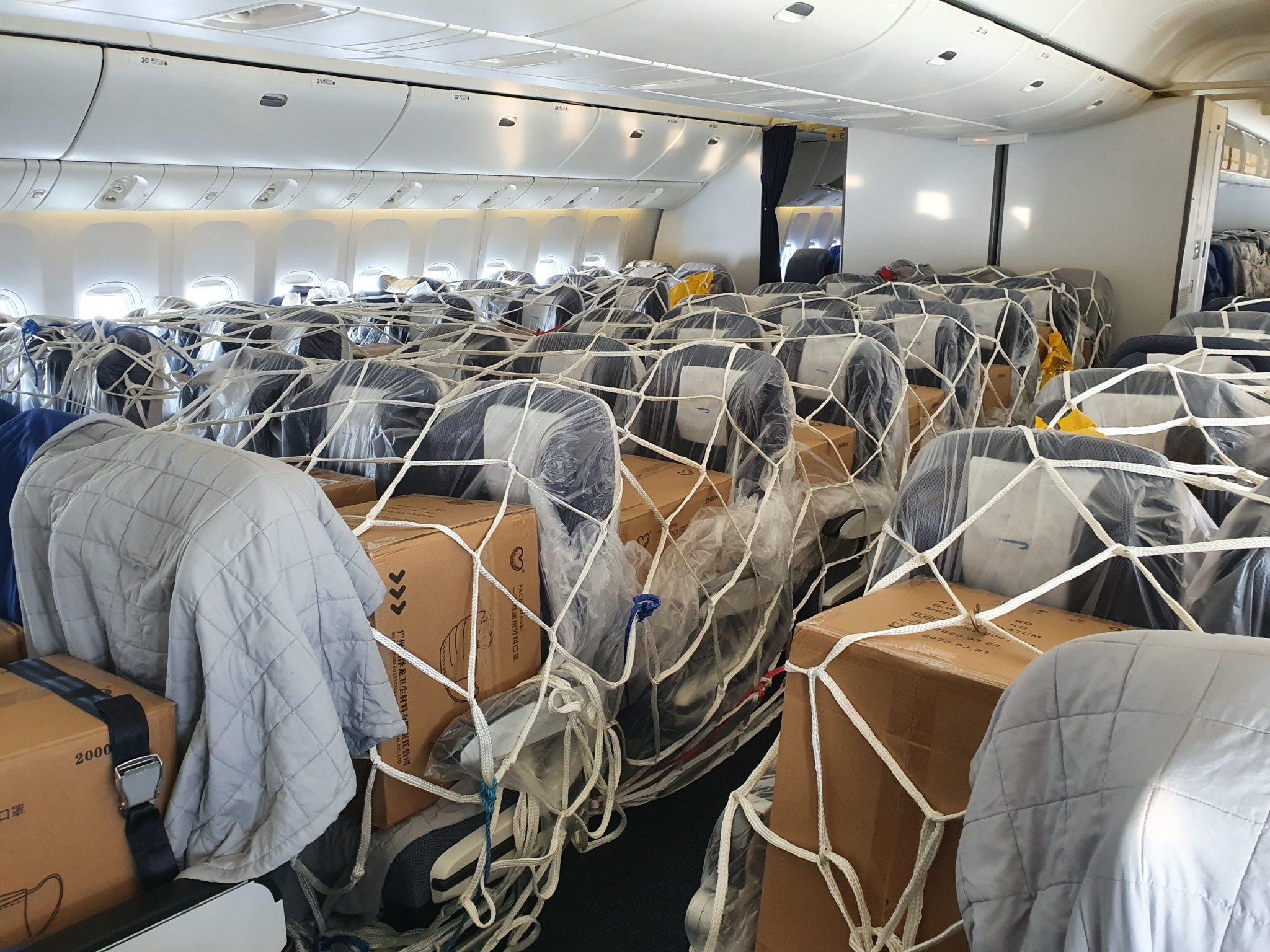 cargo inside passenger planes