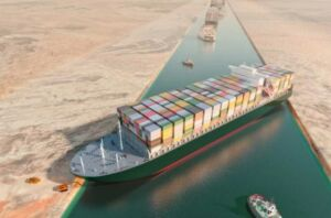 Evergiven ship stuck in Suez Canal