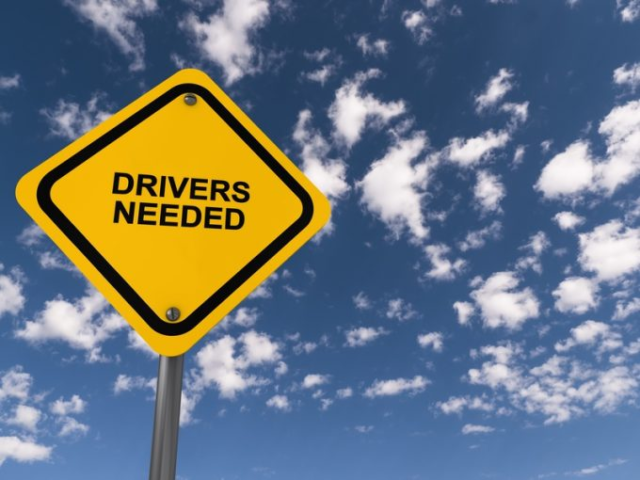 drivers needed sign